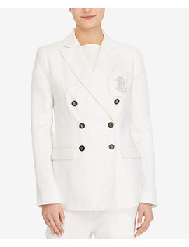 Petite Slim Fit Monogram Blazer by Lauren Ralph Lauren