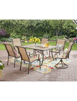 Mainstays Wesley Creek 7 Piece Dining Set, Tan by Mainstays