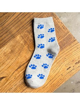 Fashion Female Short  Colorful Tube Art Casual Cotton 1 Pairs Clouds And Paw Prints Socks Winter For Woman Girl Hot by Erigle