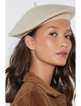 Oatmeal Wool Beret by Nasty Gal