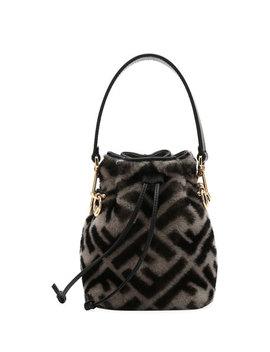 Mon Tresor Ff Shearling Fur Bucket Bag by Fendi