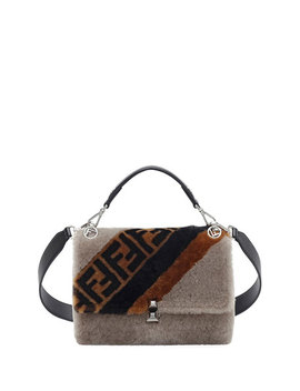 Kan I Ff 1974 Shearling Marquetry Shoulder Bag by Fendi