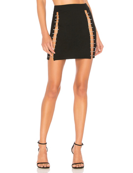 Arianna Rhinestone Mini Skirt by By The Way.