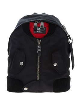 Black Bomber Jacket Inspired Backpack by Moschino Couture
