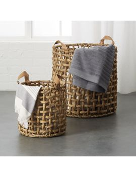 Links Natural Baskets With Handles by Crate&Barrel