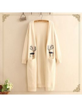 Embroidered Long Cardigan by Kawaii Fairyland