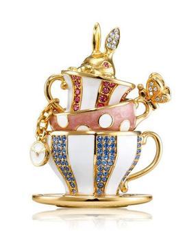 Beautiful Wonderland Tea Party Perfume Compact By Monica Rich Kosann by Estee Lauder