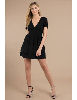 Float My Way Black Skater Dress by Tobi