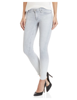 Frayed Super Skinny Ankle Legging Jeans by Ag By Adriano Goldschmied