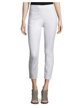 Simone Cropped Skinny Pants, White by Rag & Bone