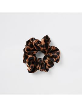 Brown Leopard Print Scrunchie by River Island