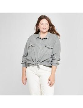 Women's Plus Size Soft Twill Long Sleeve Shirt   Universal Thread™ by Shop All Universal Thread™