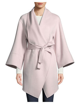 Luxury Double Faced Cashmere Wrap Coat by Neiman Marcus Cashmere Collection