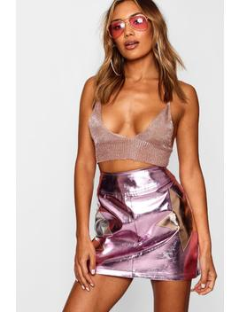 Metallic Star Woven Mini Skirt by Boohoo