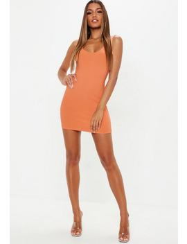 Peach Scoop Back Mini Dress by Missguided