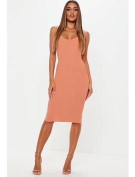 Terracotta Scoop Back Midi Dress by Missguided