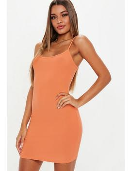 Peach Strappy Cami Mini Dress by Missguided