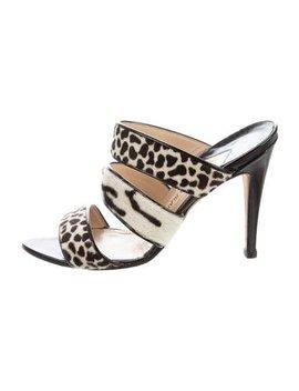 Manolo Blahnik Ponyhair Slide Sandals by Manolo Blahnik