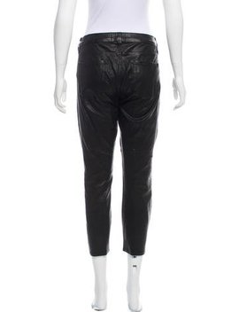 Frame Denim Leather Mid Rise Pants by The Real Real