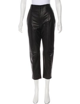 Vince Leather High Rise Pants by Vince