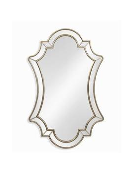 Bassett Mirror Company Delia Champagne Mdf And Glass Wall Mirror by Bassett Mirror Company