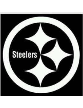 Steelers Vinyl White Sticker 12 X 12 by Decals N Tees