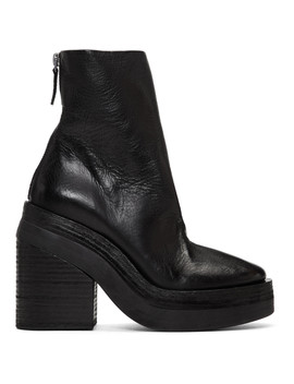 Black Stisicona Platform Boots by MarsÈll
