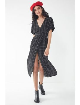 Uo Gloria Midi Wrap Dress by Urban Outfitters
