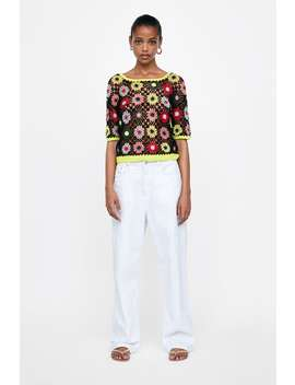 Multicolor Crochet Sweater  Topswoman by Zara