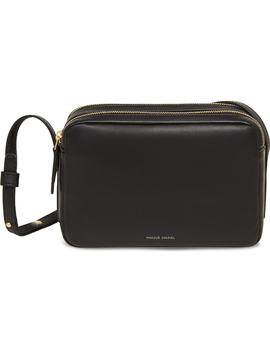 Double Zip Lambskin Leather Crossbody Bag by Mansur Gavriel