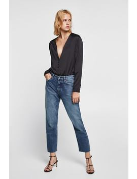Button  Up Bodysuitnew In Woman by Zara