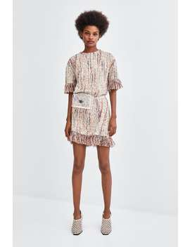 Jacquard Dress With Fringe  View All Dresses Woman by Zara