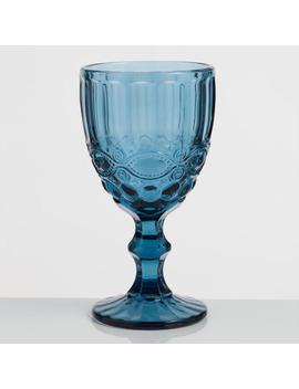 Blue Pressed Glass Goblets Set Of 4 by World Market