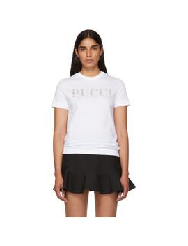 White Glitters Pucci T Shirt by Emilio Pucci