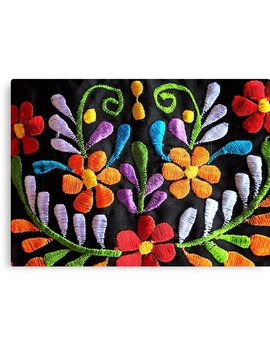 Mexican Flowers Embroidery by Tina Salazar