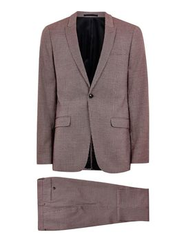 Pink Check Skinny Suit by Topman