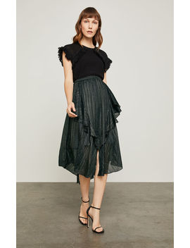 Metallic Asymmetrical A Line Skirt by Bcbgmaxazria