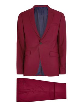 Raspberry Skinny Suit by Topman