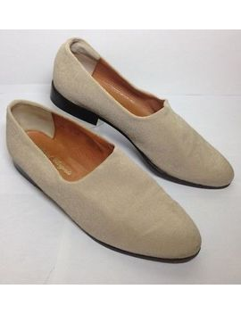 Robert Clergerie Beige Fabric Slip On Flats Loafers Skimmer Us 8.5 B  Pre Owned by Robert Clergerie