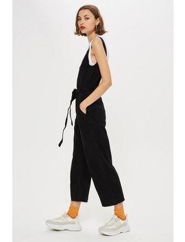 Belted Denim Jumpsuit by Topshop