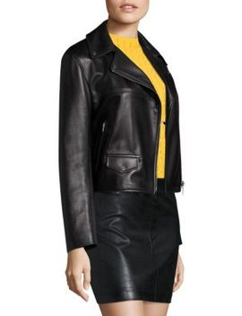 Leather Biker Jacket by Helmut Lang