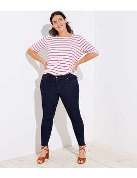 Loft Plus Modern Skinny Jeans In Dark Rinse Wash by Loft