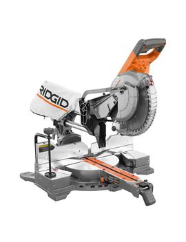 15 Amp 10 In. Corded Dual Bevel Sliding Miter Saw With 70° Miter Capacity by Ridgid