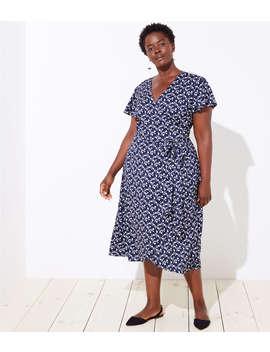 Loft Plus Vine Flutter Wrap Dress by Loft
