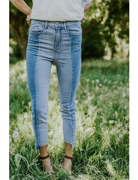 Zuri Two Tone Jeans by Roolee