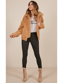 Out Of The Dark Jacket In Mocha Teddy by Showpo Fashion
