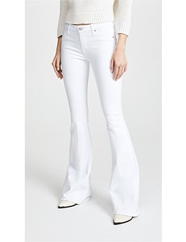 Mia Mid Rise White Jeans by Hudson