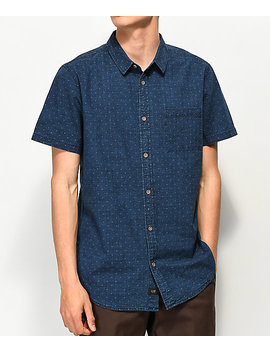 Globe Iris Indigo Short Sleeve Button Up Shirt by Globe