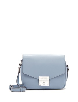 Stina Flap Leather Crossbody Bag by Vince Camuto