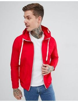Pull&Bear Hooded Jacket In Red by Pull&Bear